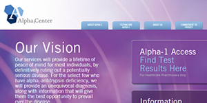 Alpha1Access Physician Web Portal