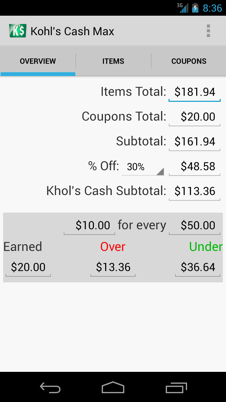 Kohl's Cash Max App - Overview